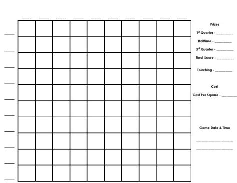 football square board template football squares template peerpex