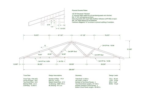 Home Design 50 Foot Lot by Trusses With Plywood Gusset Plates Wood Design And