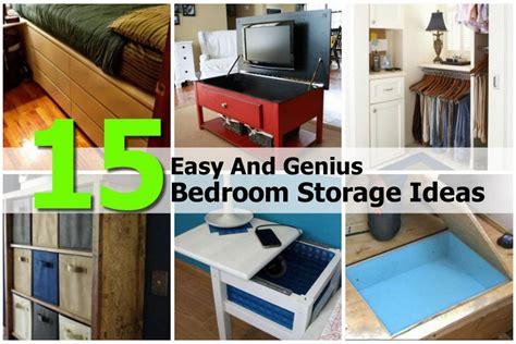 15 easy and genius bedroom storage ideas