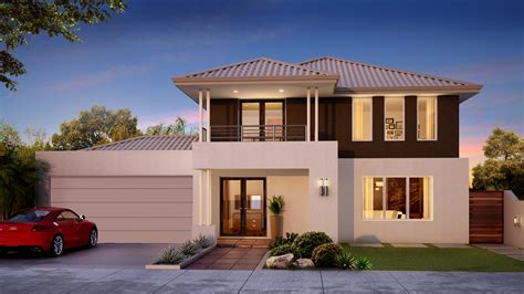 narrow lot homes two storey small house plans 28483