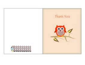 free printable owl baby shower thank you cards