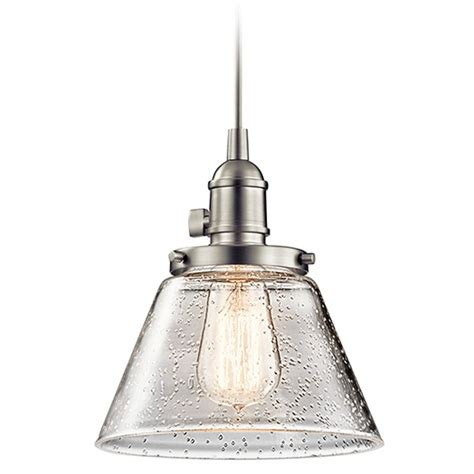 Kichler Lighting Sale Seeded Glass Mini Pendant Light Brushed Nickel Kichler Lighting 43851ni Destination Lighting