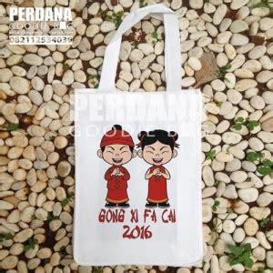 Tas Spunbond Untuk Kue Keranjang goodie bag imlek tas kanvas tas blacu perdana goodiebag