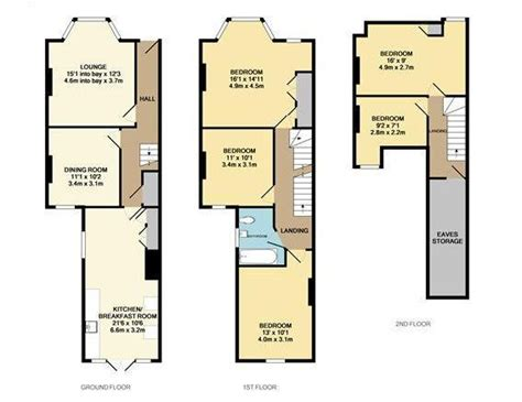 terraced house loft conversion floor plan 14 best floor plans terraces images on pinterest estate