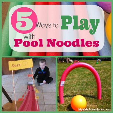 Backyard Using Pool Noodles 5 Creative Pool Noodle Activities That Don T Need Water
