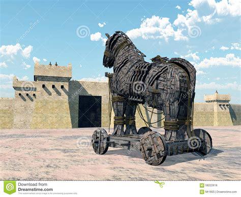home paard van troje paard van troje stock illustratie illustratie bestaande