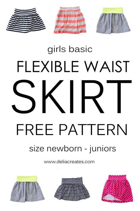 printable toddler skirt pattern girls basic flexible waist skirt free pattern