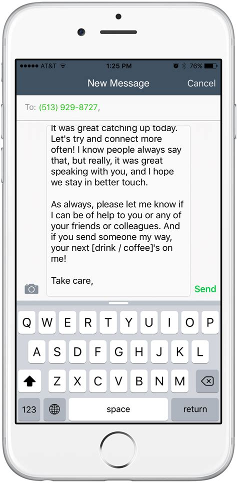 ios update introducing email and text templates