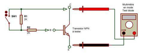 test de diode avec multimetre electronique bases verification composants
