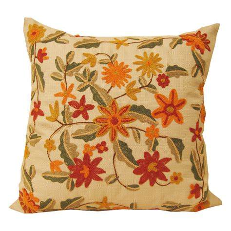 Crewel Pillows by Crewel Embroidered Pillows Covers Sofa Pillows By Spcustomdrapery