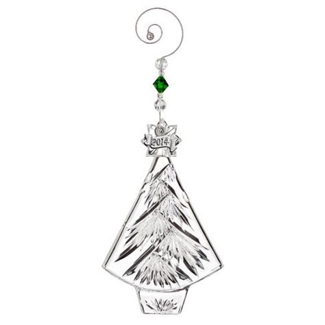 2014 waterford annual christmas tree crystal ornament