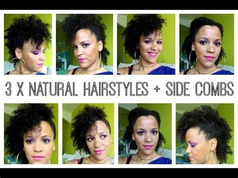 hairstyles using side combs 3 x natural hairstyles using side combs hair type 4 a