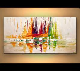 modern paints original abstract art paintings by osnat sail boat art