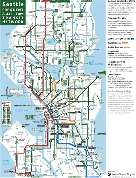 seattle map pdf seattle frequent network maps preview sept 2015