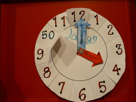 A Paper Clock - suddenly 2nd graders paper plate clock reved