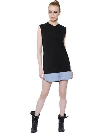 Gamis Dress Jersey Bd 121 diesel heavy cotton jersey denim dress shopstyle day