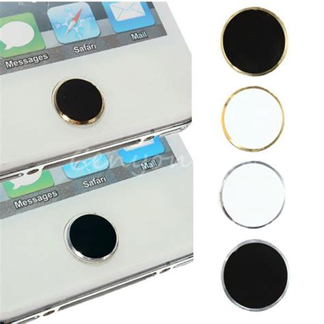 4 types aluminium home button sticker metal for apple