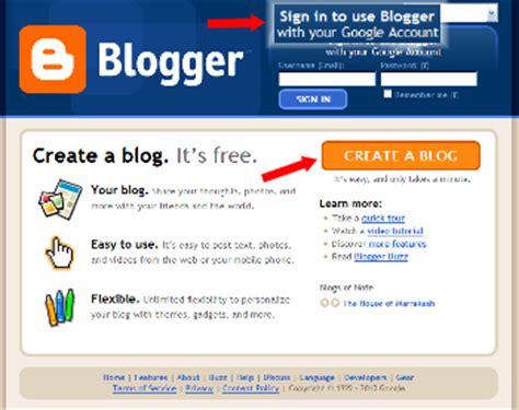 blogger login google account beginners guide to blogger sign upmamablogga