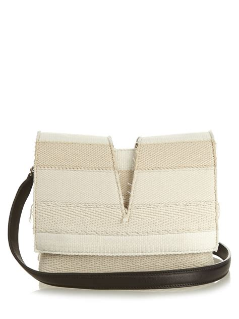 Jil Sander 2007 Bags by Lyst Jil Sander View Small Striped Canvas Cross Bag