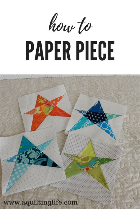 Piecing Patchwork Patterns - foundation paper piecing a quilting a quilt