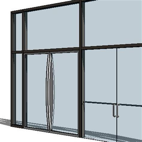 door in curtain wall curtain wall doors 3d model formfonts 3d models textures