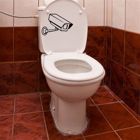 cctv camera bathroom surveillance camera toilet decal kcwalldecals
