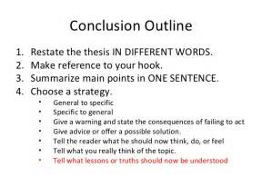 Conclusion Template by Conclusion Outline