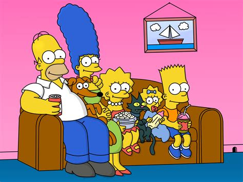 simpsons sofa the simpsons on the couch wallpapers and images