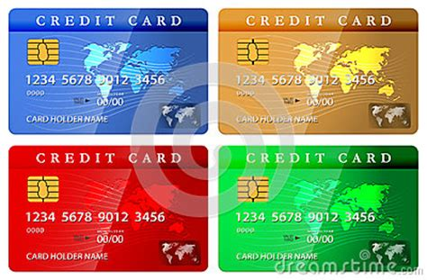 Debit Card Design Template by 4 Color Credit Or Debit Card Design Template Stock Photos