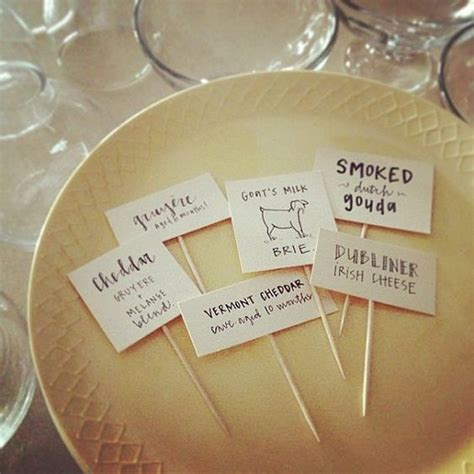 Cheese/Charcuterie Labels by masandmillie  great for a