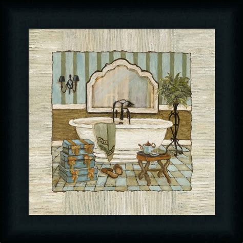 bathroom framed wall art vintage luxe ii bathtub bathroom d 233 cor framed art print