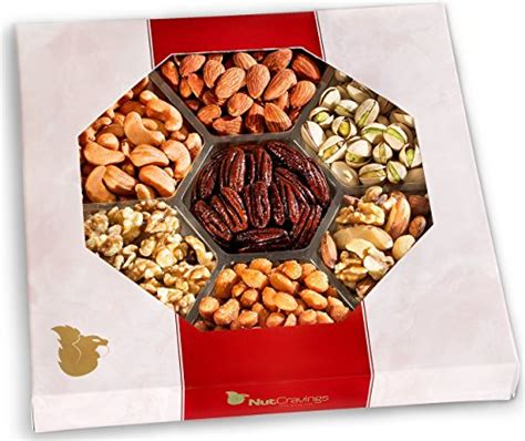 holiday gourmet food nuts gift basket 7 different nuts five star gift baskets nut cravings gourmet nut large gift tray with striking import it all