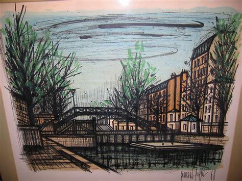 Bernard Buffet Paintings For Sale Bernard Buffet Canal St Martin 1968 Lithograph For Sale