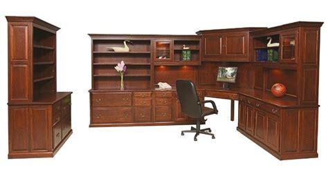 Heritage Desk Office Furniture Set Solid Wood American Made Office Furniture