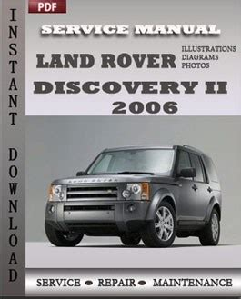 car repair manuals online pdf 2006 land rover lr3 transmission control land rover discovery 2 2006 service repair manual repair service manual pdf