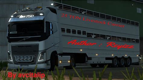 ets2 game modding net 25 ton livestock carrier trailer mod work ets2mp ets2 mods