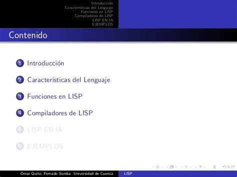 xlisp tutorial lisp tutorial en latex