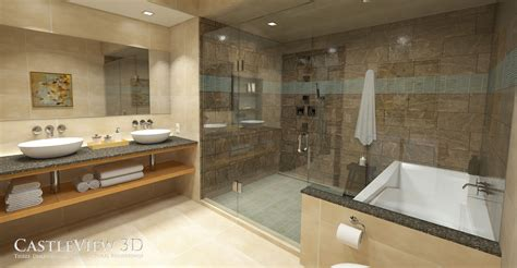 Beautiful Spa Bathrooms by Bath Architectural Renderings From Castleview3d