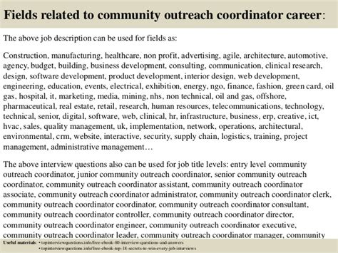 top  community outreach coordinator interview questions  answers