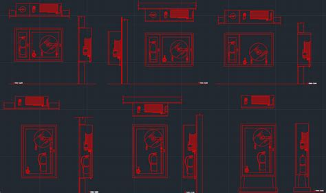 fire department valve cabinet fire hose cabinet free cad block and autocad drawing