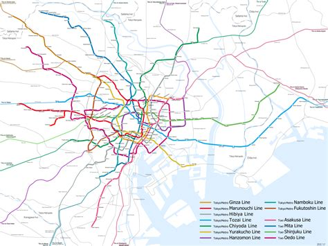 tokyo metro map complete tokyo subway map for travelers