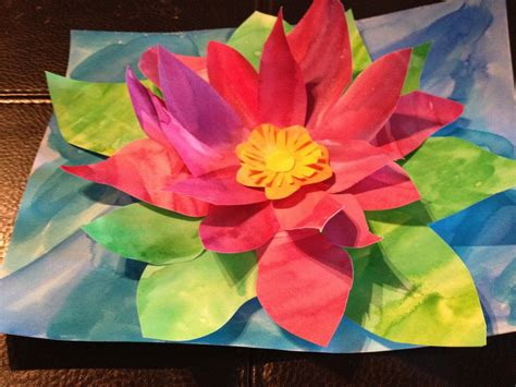 spring painting ideas water lily pop up painting good for monet spring lesson