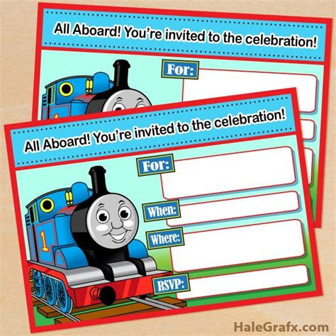 engine birthday card template free printable the tank engine birthday invitation