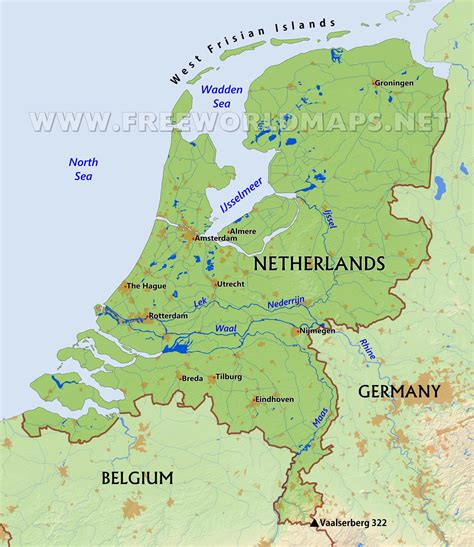 netherlands geography map netherlands geography map maps of usa