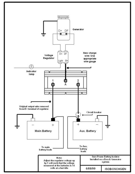marine battery isolator wiring diagram 28 images boat