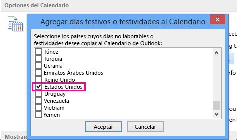 Calendario De Dias Festivos En Estados Unidos Cambiar El Modo En Que Ve El Calendario De Outlook Outlook