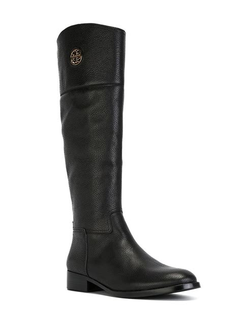 burch black boots burch knee high boots in black lyst