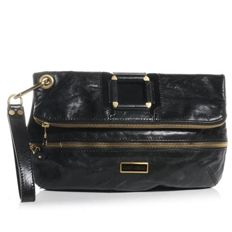The Jimmy Choo Mave In A Fabulous New Color Liquid Patent by Jimmy Choo Leather Mave Foldover Clutch Black 57082