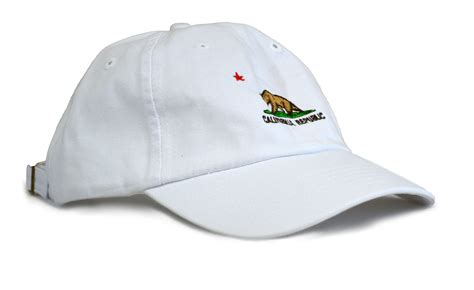 california state flag low profile baseball hat golf cap