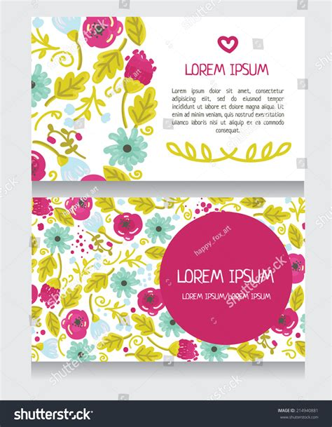 thank you card illustrator template beautiful floral business card invitation o thank you